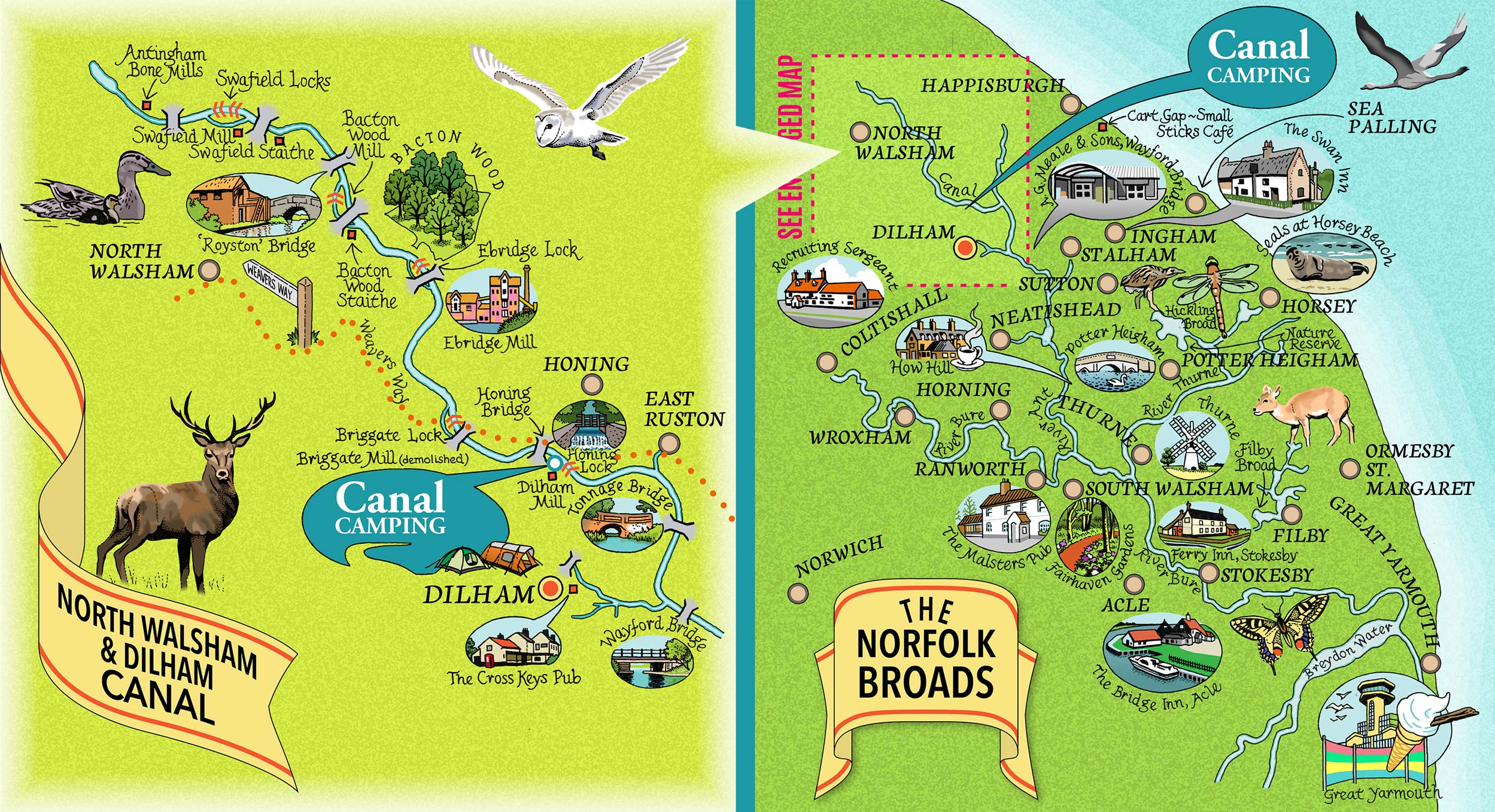 Canal Camping local area map