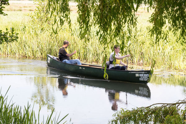 Canoeing at Canal Camping, Norfolk