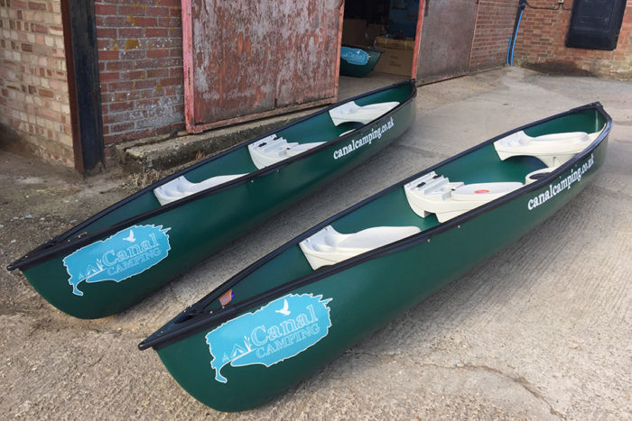Canal Camping canoes