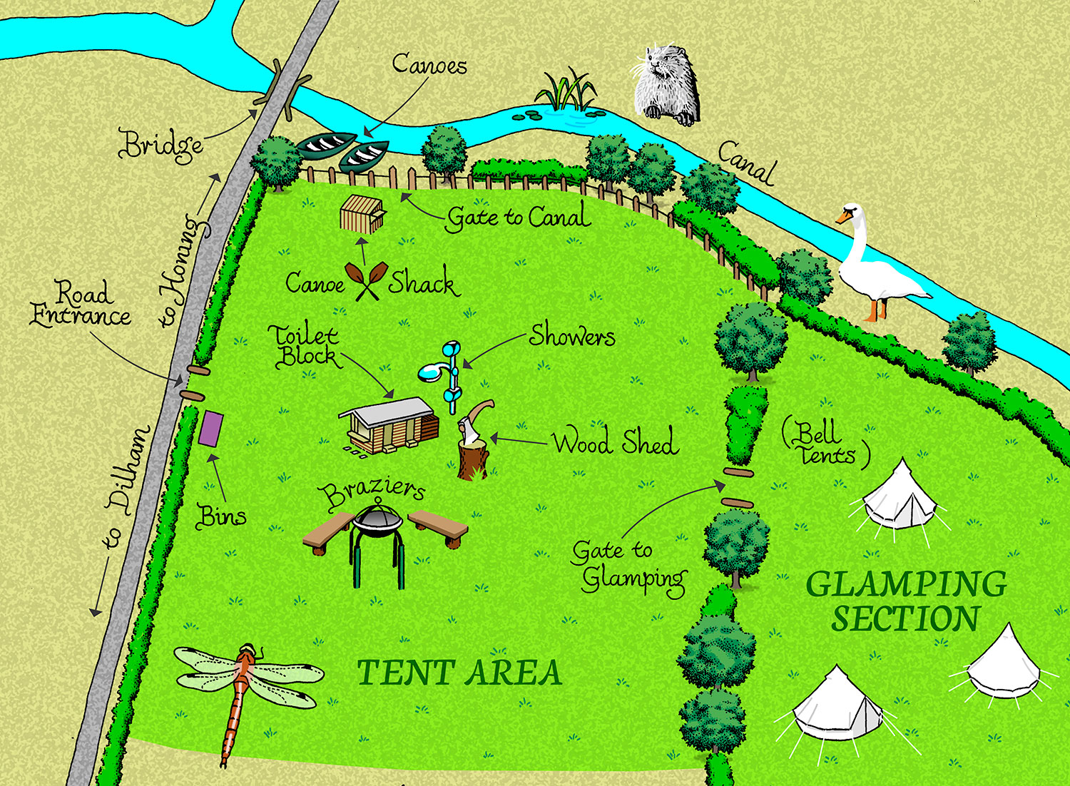 Canal Camping campsite map