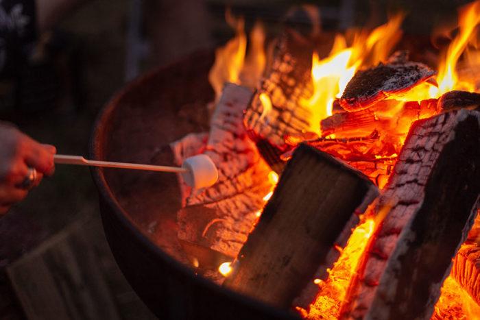 Firepit glamping