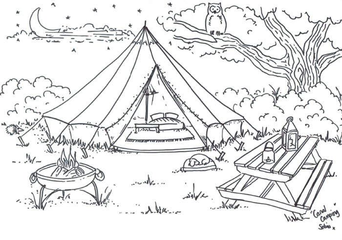Bell tents drawing